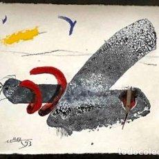 Arte: MANUEL BEA -TÉCNICA MIXTA SOBRE PAPEL -. Lote 170204932