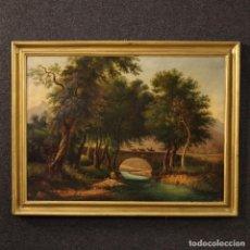 Arte: PINTURA ITALIANA DE PAISAJE CON PERSONAJES DEL SIGLO XIX. Lote 170287888