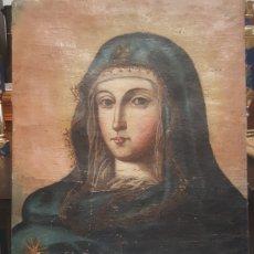 Arte: VIRGEN OLEO SOBRE LIENZO. FINALES S.XVIII. PRINCIPIO XIX.. Lote 170290745
