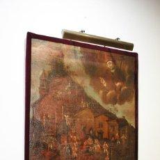 Arte: ÓLEO SOBRE LIENZO VILLANUEVA DE JALÓN. Lote 170297264