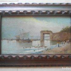 Arte: BUENA PINTURA AL ÓLEO CA 1880 -1900, PROBABLEMENTE ESPAÑA PINTOR DESCONECIDO.. Lote 170327460
