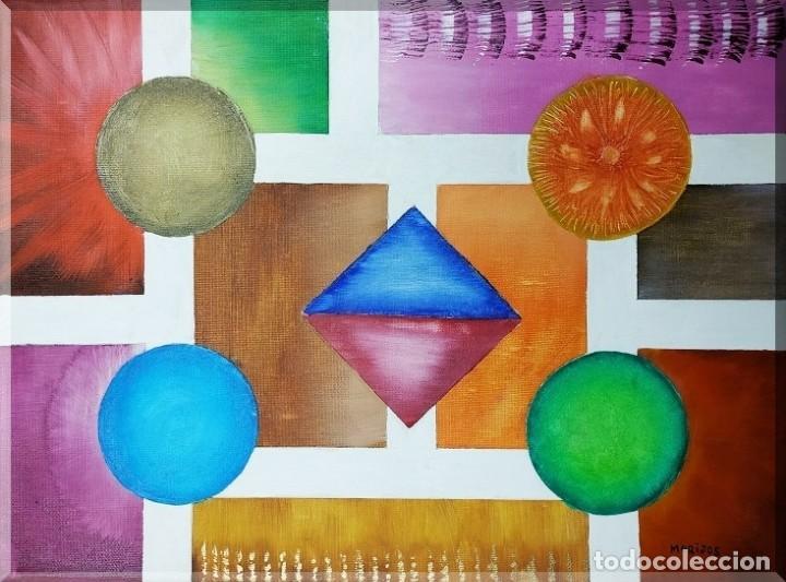 OLEO SOBRE LIENZO, UNIVERSO GEOMÉTRICO -3 , FIRMADO (Arte - Pintura - Pintura al Óleo Moderna sin fecha definida)