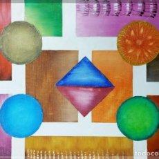 Arte: OLEO SOBRE LIENZO, UNIVERSO GEOMÉTRICO -3 , FIRMADO. Lote 170346376