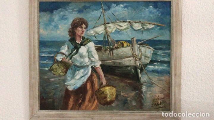 LOPEZ - CANITO. HOMENAJE A JOAQUIN SOROLLA- LA ALBUFERA (Arte - Pintura - Pintura al Óleo Contemporánea )