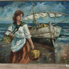 Arte: LOPEZ - CANITO. HOMENAJE A JOAQUIN SOROLLA- LA ALBUFERA. Lote 170621465