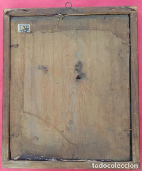 Arte: ÓLEO BAJO CRISTAL -CALVARIO, CON MAGDALENA Y CRUCIFICADO-. ESCUELA ITALIANA XVIII. DIM.- 39X33 CMS - Foto 2 - 170890475