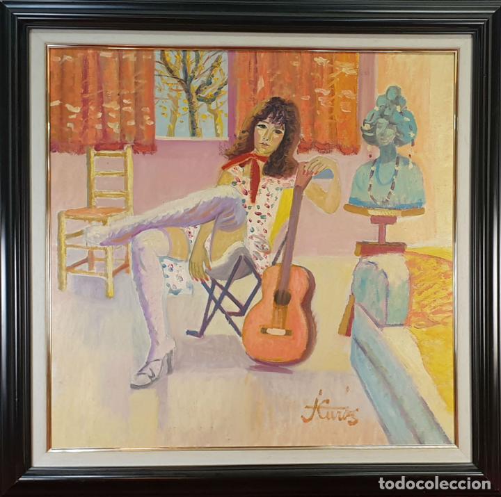 ISABEL. ÓLEO SOBRE LIENZO. JORDI CURÓS VENTURA. 1979. (Arte - Pintura - Pintura al Óleo Contemporánea )