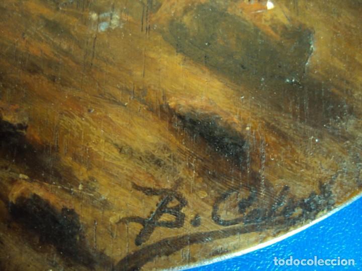 Arte: (ANT-170903)PINTURA AL OLEO SOBRE PALETA DE BARCO EN LLAMAS - Foto 4 - 170916280
