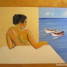 Arte: CUADRO EL MAR POR LA VENTANA. Lote 170916625