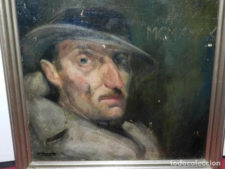 Arte: (M) Óleo de Casimir Martinez Tarrassó 1939 Retrato de Federico Beltran Masses - Foto 2 - 170922725