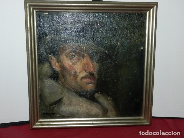 Arte: (M) Óleo de Casimir Martinez Tarrassó 1939 Retrato de Federico Beltran Masses - Foto 3 - 170922725