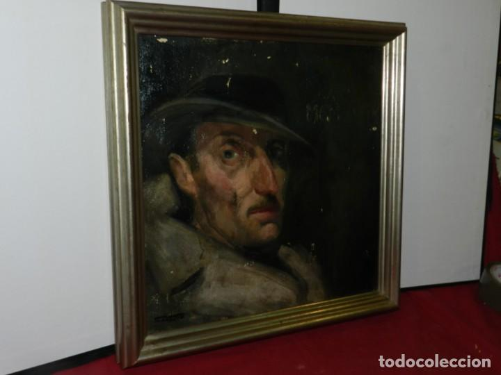 Arte: (M) Óleo de Casimir Martinez Tarrassó 1939 Retrato de Federico Beltran Masses - Foto 4 - 170922725