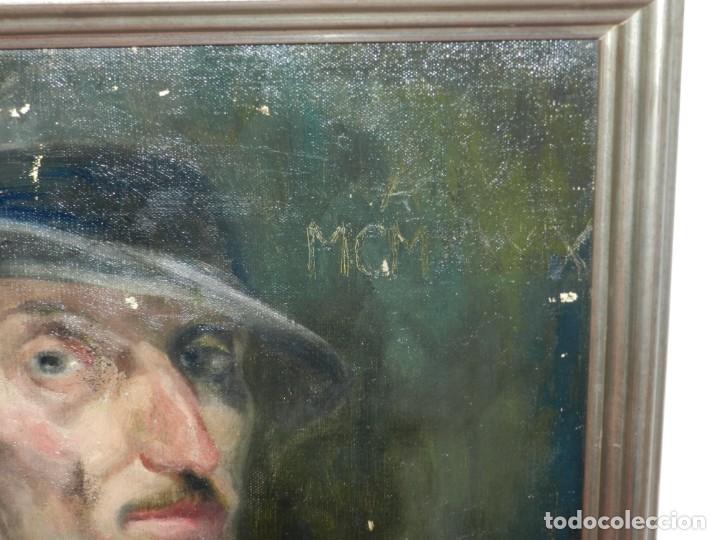 Arte: (M) Óleo de Casimir Martinez Tarrassó 1939 Retrato de Federico Beltran Masses - Foto 6 - 170922725