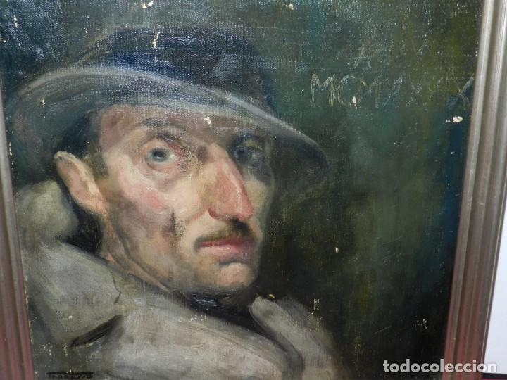 Arte: (M) Óleo de Casimir Martinez Tarrassó 1939 Retrato de Federico Beltran Masses - Foto 7 - 170922725