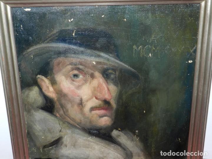 Arte: (M) Óleo de Casimir Martinez Tarrassó 1939 Retrato de Federico Beltran Masses - Foto 8 - 170922725
