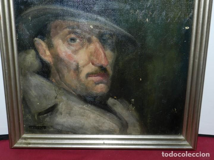 Arte: (M) Óleo de Casimir Martinez Tarrassó 1939 Retrato de Federico Beltran Masses - Foto 9 - 170922725