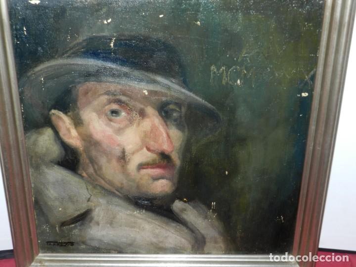 Arte: (M) Óleo de Casimir Martinez Tarrassó 1939 Retrato de Federico Beltran Masses - Foto 10 - 170922725