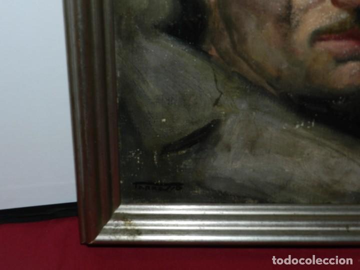 Arte: (M) Óleo de Casimir Martinez Tarrassó 1939 Retrato de Federico Beltran Masses - Foto 11 - 170922725