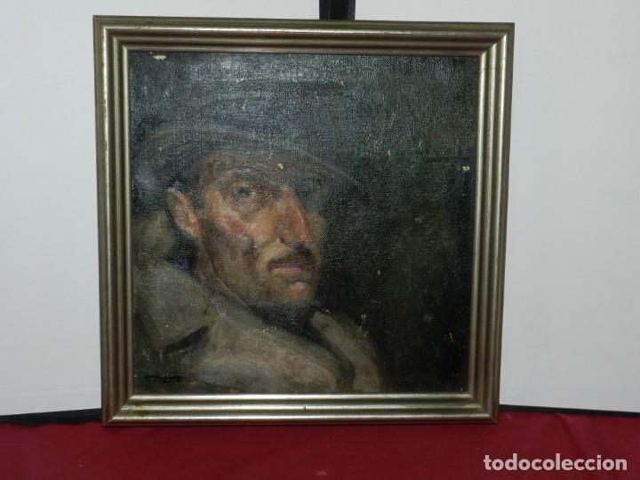 Arte: (M) Óleo de Casimir Martinez Tarrassó 1939 Retrato de Federico Beltran Masses - Foto 16 - 170922725
