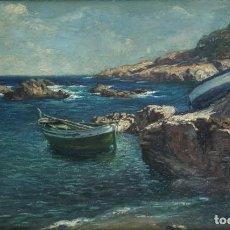 Arte: JOSEP ALUMÀ I SANS (1897-1974) - BAGUR COSTA BRAVA - ÓLEO TABLA. Lote 171003158