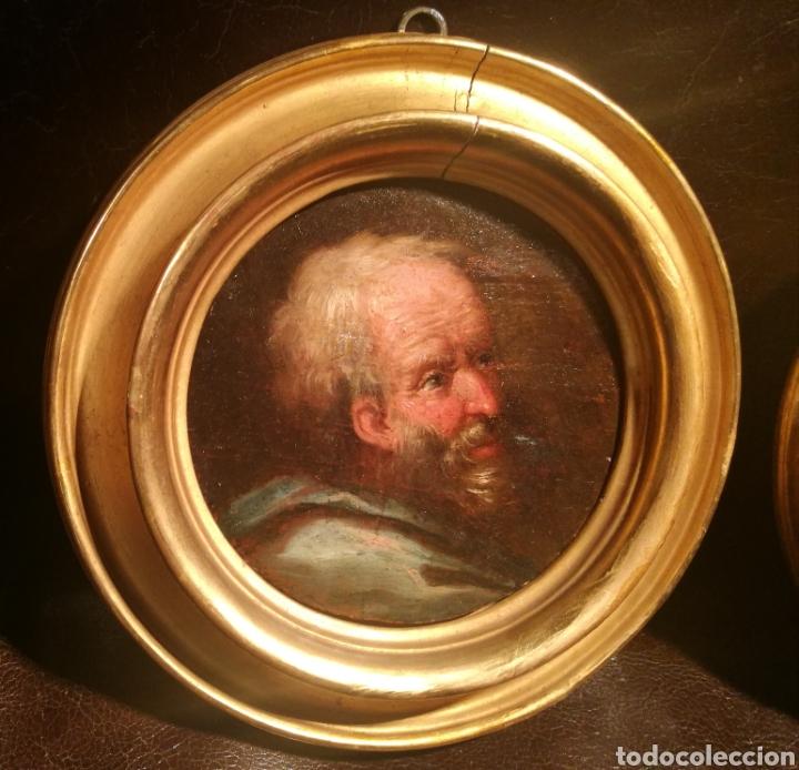 Arte: CABEZAS DE FILÓSOFOS CIRCULO DE JOSÉ DE RIBERA (1591-1652) - Foto 2 - 171042695