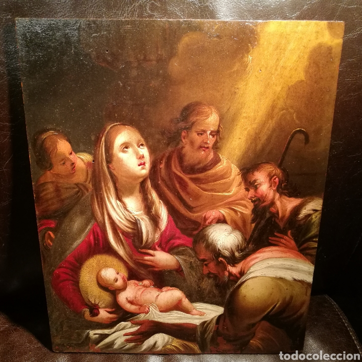 LA ADORACIÓN DE LOS PASTORES. CÍRCULO DE JUAN DE VALDÉS LEAL (1622-90) (Arte - Pintura - Pintura al Óleo Antigua siglo XVII)
