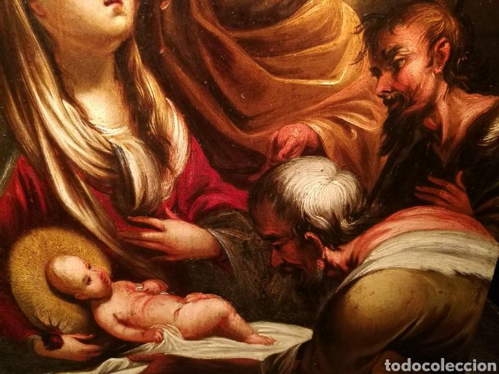 Arte: LA ADORACIÓN DE LOS PASTORES. CÍRCULO DE JUAN DE VALDÉS LEAL (1622-90) - Foto 4 - 171043107