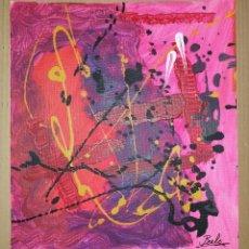 Arte: LIENZO SIN BASTIDOR. TÍTULO: CIGOTO. FIRMADO POR EL ARTISTA PLÁSTICO JESUS BEELE. 2012.. Lote 171058003