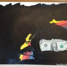 Arte: PAPEL GRUESO. TÍTULO: CORRUPCIÓN. FIRMADO POR EL ARTISTA PLÁSTICO JESUS BEELE. 2012.. Lote 171058349