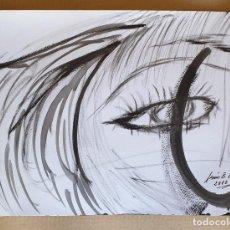Arte: PAPEL GRUESO. TÍTULO: PASAR POR EL ARO. FIRMADO POR EL ARTISTA PLÁSTICO JESUS BEELE. 2012.. Lote 171058878