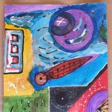 Arte: PAPEL GRUESO. TÍTULO: PANSPERMIA. FIRMADO POR EL ARTISTA PLÁSTICO JESUS BEELE. 2012.. Lote 171059092