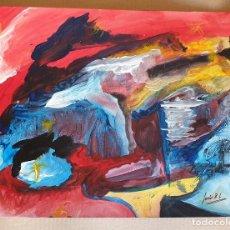 Arte: PAPEL GRUESO. TÍTULO: EN QUÉ PIENSA UNA RATA EN PIE. FIRMADO POR EL ARTISTA PLÁSTICO J. BEELE. 2012.. Lote 171059154