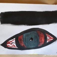 Arte: PAPEL GRUESO. TÍTULO: CEJA OSCURA. FIRMADO POR EL ARTISTA PLÁSTICO J. BEELE. 2012.. Lote 171059182