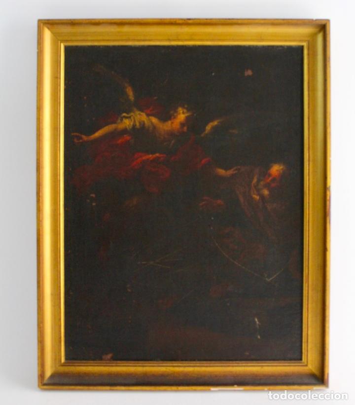 OLEO SOBRE LIENZO, SAN PEDRO. FINALES S.XVII (Arte - Pintura - Pintura al Óleo Antigua siglo XVII)