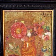 Arte: ARPILLERA ORIGINAL DE ÁLVARO FARIÑA 35X30 CM.. Lote 137204438