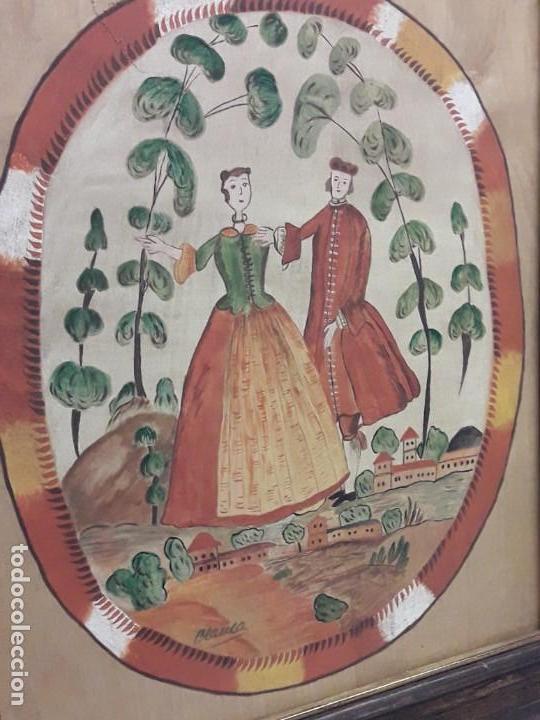 Arte: Bello cuadro pintura sobre madera naif firmado Blanca enmarcado - Foto 3 - 171192359