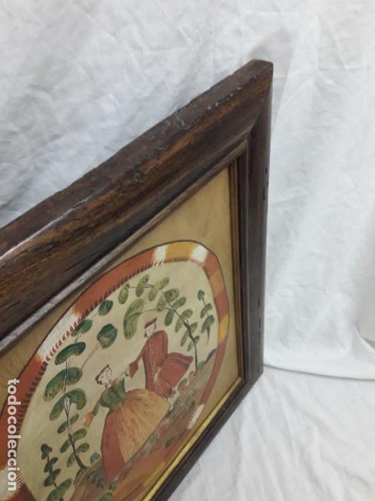 Arte: Bello cuadro pintura sobre madera naif firmado Blanca enmarcado - Foto 8 - 171192359