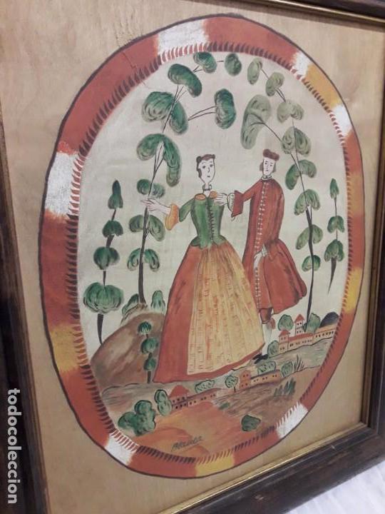 Arte: Bello cuadro pintura sobre madera naif firmado Blanca enmarcado - Foto 9 - 171192359