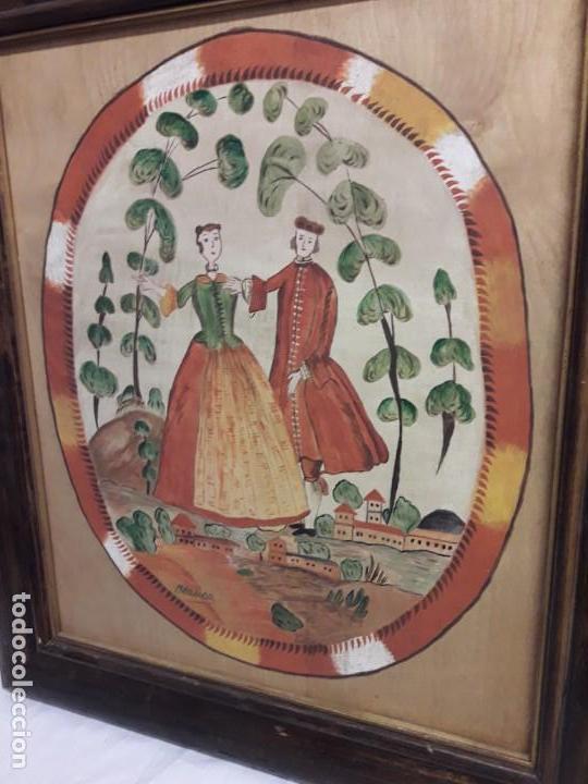 Arte: Bello cuadro pintura sobre madera naif firmado Blanca enmarcado - Foto 10 - 171192359