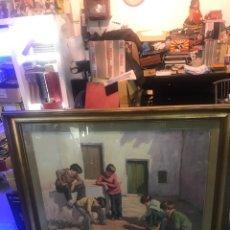 Arte: EXPECTACULAR CUADRO DE JOSÉ LULL TITULADO JUEGO DE DADOS. Lote 171193407
