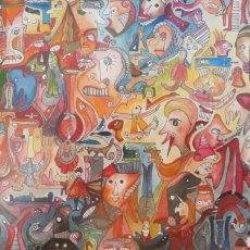 Arte: 2 OBRAS ARTISTA URUGUAY ASTRID BARFORD. Lote 171237588