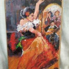 Arte: MUJER BAILANDO FLAMENCO ORIGINAL. Lote 171238950