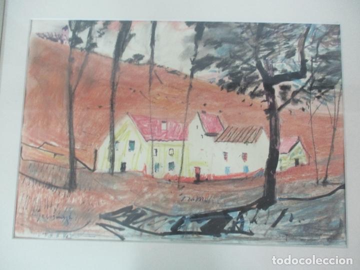 Arte: Pere Gussinyé y Gironella , (Olot, 1890-1980) - Bonito Pastel - Paisaje - Foto 2 - 171295039