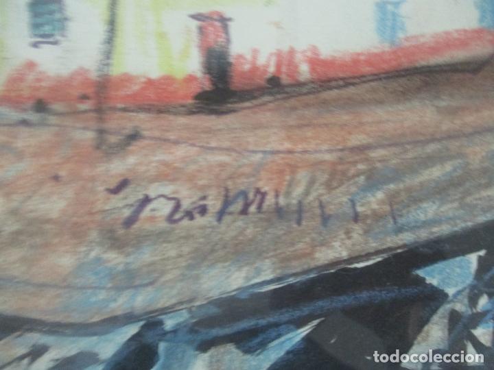 Arte: Pere Gussinyé y Gironella , (Olot, 1890-1980) - Bonito Pastel - Paisaje - Foto 4 - 171295039