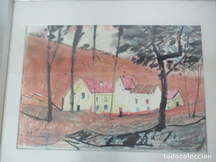 Arte: Pere Gussinyé y Gironella , (Olot, 1890-1980) - Bonito Pastel - Paisaje - Foto 5 - 171295039