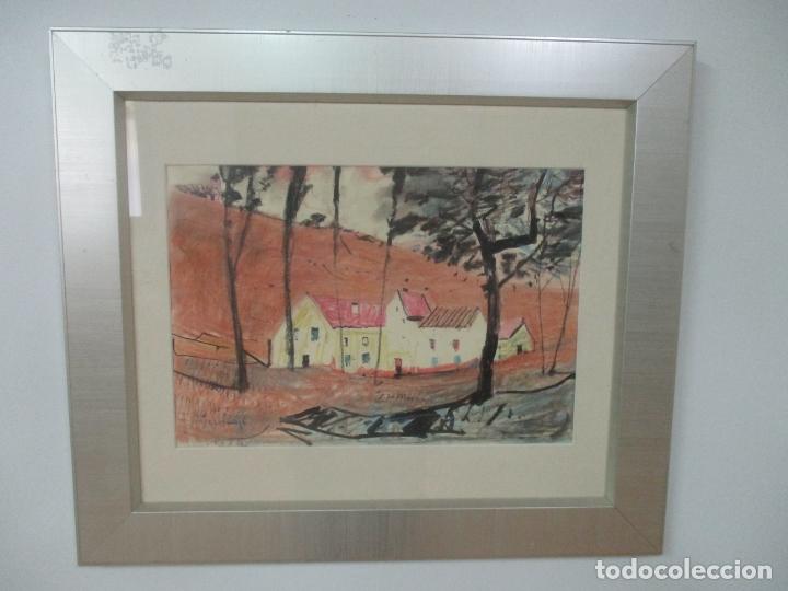Arte: Pere Gussinyé y Gironella , (Olot, 1890-1980) - Bonito Pastel - Paisaje - Foto 6 - 171295039