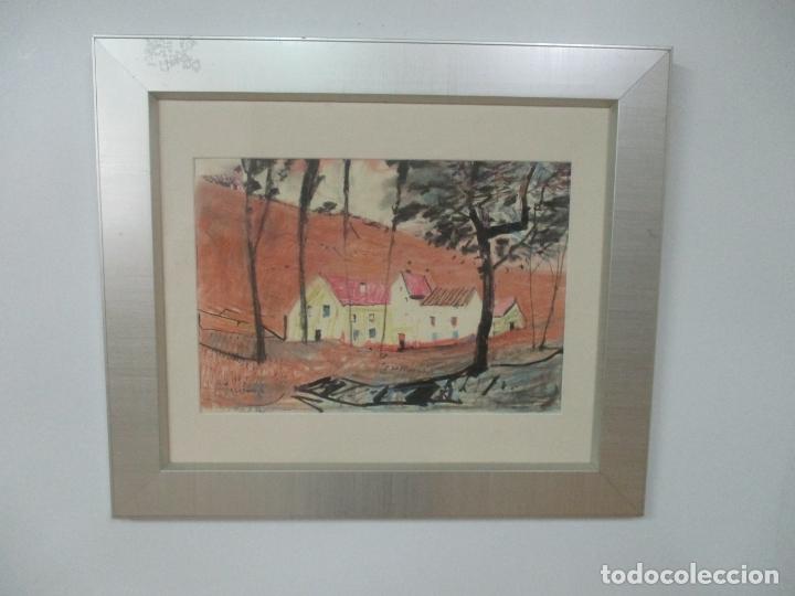 PERE GUSSINYÉ Y GIRONELLA , (OLOT, 1890-1980) - BONITO PASTEL - PAISAJE (Arte - Pintura - Pintura al Óleo Moderna sin fecha definida)