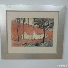 Arte: PERE GUSSINYÉ Y GIRONELLA , (OLOT, 1890-1980) - BONITO PASTEL - PAISAJE. Lote 171295039