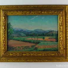 Arte: B-828. OLEO SOBRE LIENZO, PAISAJE DE OLOT. FIRMADO J.SOLER. 1929.. Lote 171305968