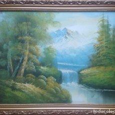 Arte: PAISAJE PRIMAVERAL ENMARCADO. Lote 171313655